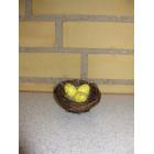 Rede med æg gul