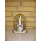 Glasklokke med kirke