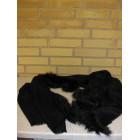 Sort tørklæde med pelskant