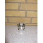 Saltkar med løs glasindsats og ske