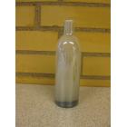 Glas flaske sølvgrå