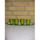 Bakke med fyrfadsglas