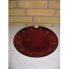 Rød glasfad