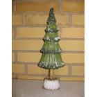 Juletræ i træ med glimmer